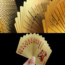 24K Gold Foil Waterproof  Playing Card Magic Plated Poker Deck Cards Table Games