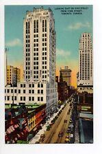 CANADA carte postale ancienne TORONTO 24 looking east on king street