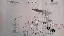 GAGGIA CLASSIC-braccio a vapore 2x/GUARNIZIONE BACCHETTA, Anello O, aggiornato a VITON, DM0041/088