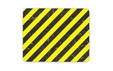 Industrial Safety Warning Mouse Mat Pad - Hazard Pattern Work PC Gift #14636