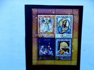 TOLELAU: 2017  Christmas Nativity Sheet of 4 stamps U/M Sg