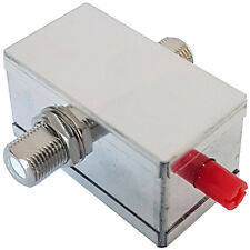 F-Connector Coaxial Cable Variable Attenuator 0-20dB-Coax RF Digital TV Freeview