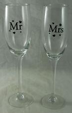 Mr. & Mrs. Prosecco Glasses