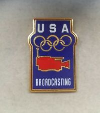 USA BROADCASTING MEDIA OLYMPIC PIN