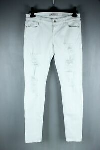 GUESS BNWT 99 White Denim Low Rise Slim Fit Skinny Women Jeans Size W 28