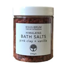 Natural Bath Salt Himalayas Pink Clay + Vanilla 200g Organic & Natural  Bath and