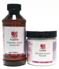 ODORLESS professional NAILITE ACRYLIC POWDER MONOMER 4 oz. sets