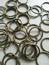 44 BRASS COLOURED CURTAIN RINGS