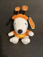 """New listing 🎃8"""" Halloween Snoopy Plush Hallmark Peanuts Great Pumpkin in Pumpkin Costume"""