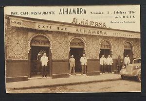 3108.-MURCIA -Bar, Café, Restaurante Alhambra (Detalle de Fachada)