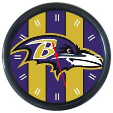 Baltimore Ravens Sport Team Football Baseball Round Wall Clock