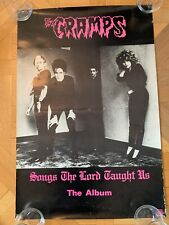 """Rare The Cramps- Illegal Records 1980 promo poster for«Songs the Lord Taught Us"""""""