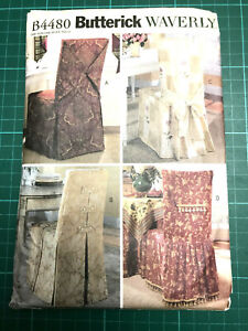 Chair Loose Covers Sewing Pattern NEW & UNCUT Butterick B4480 - 4 Designs