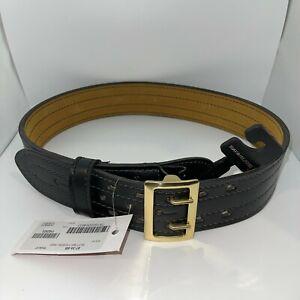 "Safariland 87 Duty Belt Plain Black w/ Brass Buckle (87-34-6B) - 34"""