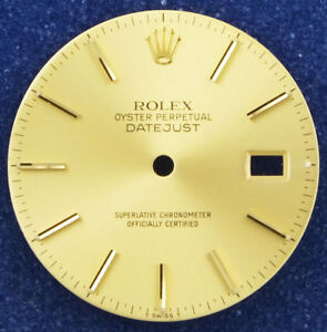 Gents Rolex Oyster Perpetual DateJust - Champagne With Applied Baton Markers