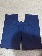 Women's PUMA  Sport Lifestyle Pants Small Navy Blue sweatpants