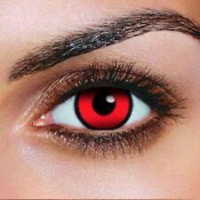 lentilles fantaisie rouge et noir   crazy lens 1 an pour halloween zombie