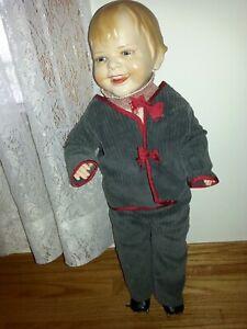 Antique Helen Jenson Gladdie Doll Biscaloid Head Composition EarthenWare Rare