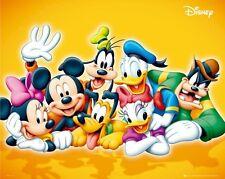 MICKEY MOUSE ~ SMILING CAST 16x20 CARTOON POSTER Disney Minnie Pluto Goofy