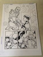 SUPERBOY #11 original art BUNKER TEEN TITAN, DETRITUS, 2012, DETAILED PAGE