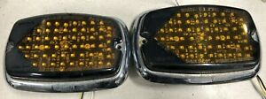 2x Pair Whelen M6 600 Series Smart-LED Amber Yellow Turn Signal with Trim Ring
