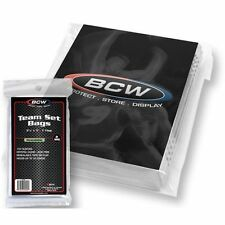 1,000 BCW Resealable Baseball Trading 35 Card Team Set Poly Bags Archival Sleeve