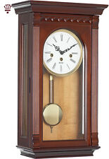 BilliB Clyde Mechanical Wall Clock with Westminster Chime in Walnut