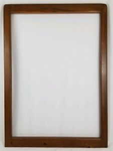 Vintage Oak Wood Picture Frame Arts And Crafts Mission Rustic Antique 30 x 41