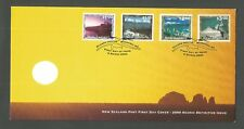 NEW ZEALAND 2000 SCENIC DEFINITIVES FDC LOT 8665A
