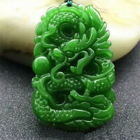 Natural Burmese Grade A Jadeite Jade Dragon Pendant Necklace D871