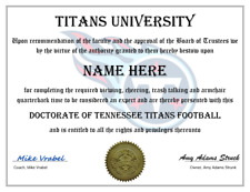 TENNESSEE TITANS PERSONALIZED FAN AWARD, GREAT GIFT