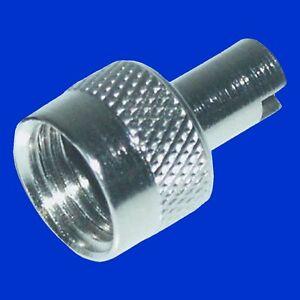 Ventilkappen Ventilausdreher aus Metall Set = 4 Stück f Ventil Schlauch Kappe
