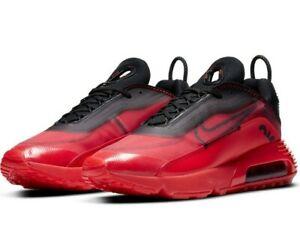 Nike Air Max 2090 University Red Black Metallic Silver Men's Size 11 Shoes