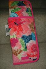 "VERA BRADLEY ICONIC CURLING & FLAT IRON COVER "" SUPERBLOOM"" RETIRED PATTERN!"