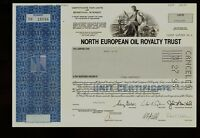 NORTH EUROPEAN OIL ROYALTY TRUST old stock certificate 1990s issued to Kray & Co