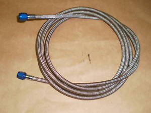 4AN NITROUS OXIDE LINE 10 FT STAINLESS STEEL BRAIDED