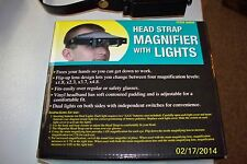 Head Strap Magnifier Magnifying Glass Lights Watch Repair Jewelry Carbs Crafts
