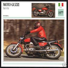 1977 Moto Guzzi 500cc V50 (490cc) Italy Touring Motorcycle Photo Spec Info Card