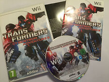 NINTENDO Wii GAME TRANSFORMERS CYBERTRON ADVENTURES +BOX INSTRUCT'S COMPLETE PAL