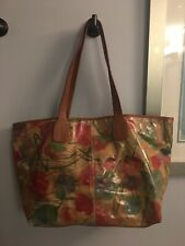 Maurizio Taiuti Large Floral Leather Tote Shoulder Bag