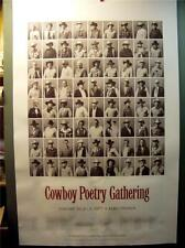 COWBOY POETRY 1987 Poster from the Poetry Gathering at  Elko Nevada
