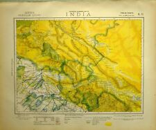 1881 LETTS MAP INDIA LAHAOL KULLU SPITI LAHORE LADAK GUGE KASHMEE