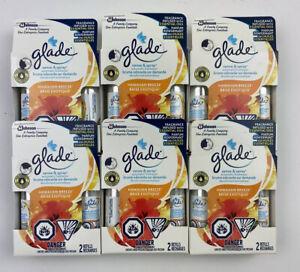12 Glade Sense & Spray Automatic Freshener Refill Hawaiian Breeze 6 Twin Pack