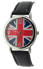 Unisex Childs Union Jack Black Strap Fashion Quartz Watch bxd 13a