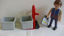 Playmobil 5259 Sackkarre Kisten Arbeiter Lager , selten