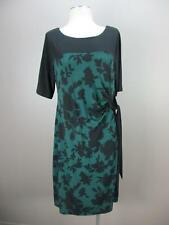 New Motherhood Size L Womens Green Black Short Sleeve Midi Maternity Dress 111
