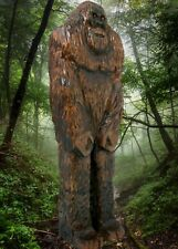 """""""SASQUATCH"""" -My 12-3/8"""" tall hand carved & signed wood figure"""
