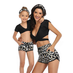 Family Matching Bikini Set Swimsuit Bathing Suit Mom Girls Swimwear Beachwear