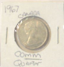 CANADA 1967 SILVER QUARTER DOLLAR CANADIAN 25c COIN