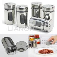 Stainless Spice Shaker Jar Sugar Salt Pepper Herbs Toothpick Storage Bottle BBQ